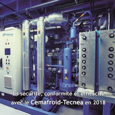 Carte de voeu Cemafroid 2018 recto