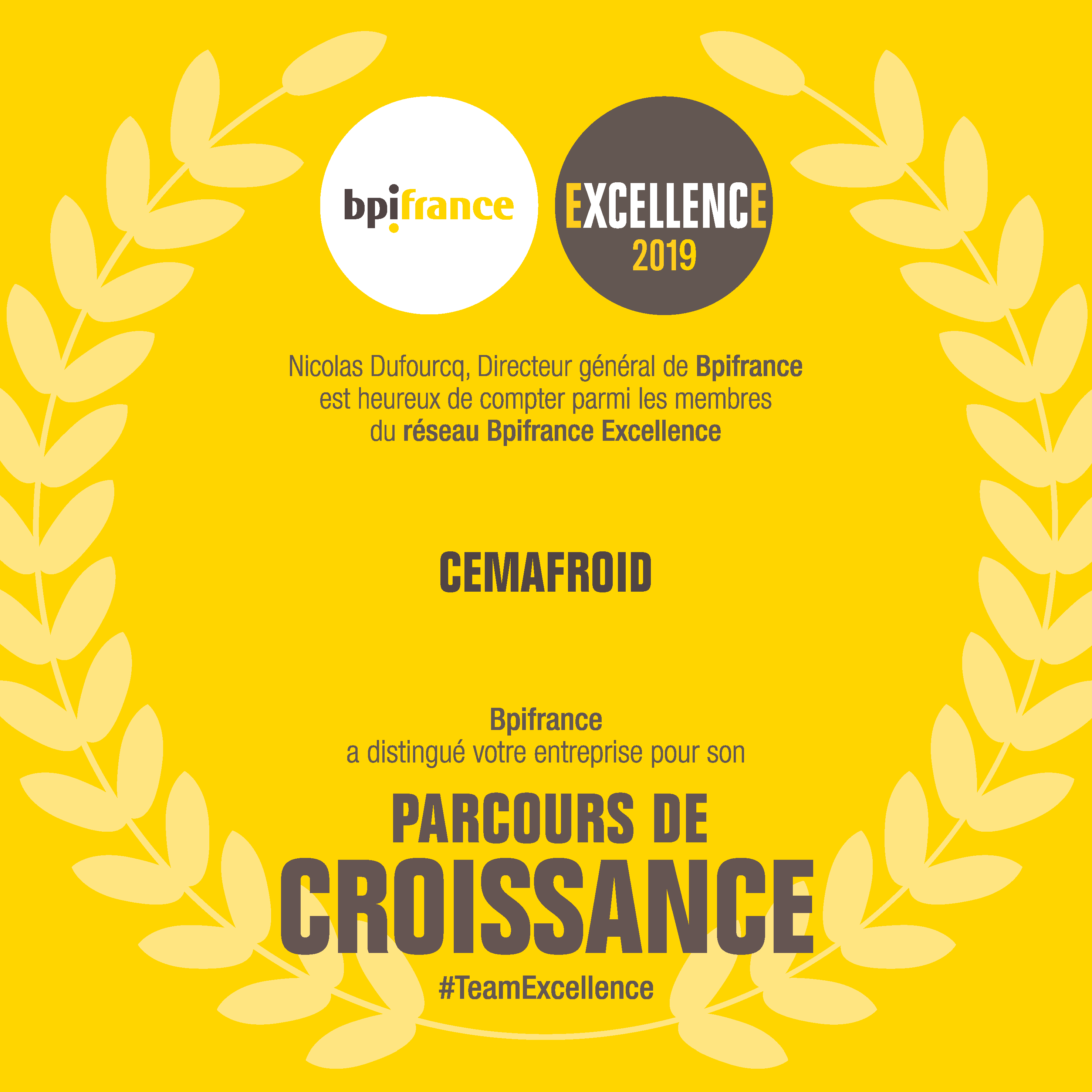 Cemafroid BPI Excellence 2019