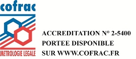 logo COFRAC Métrologie Légale Cemafroid