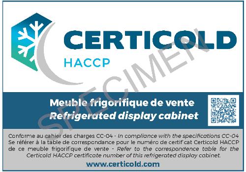 Label Certicold HACCP MFV
