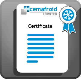 Cemafroid Formation certificate of training