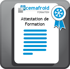 Attestation de formation Cemafroid Formation