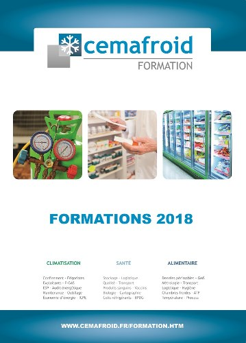 Catalogue interactif Cemafroid Formation 2018