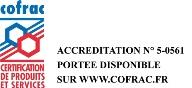 logo COFRAC Certification Produits et services  Cemafroid