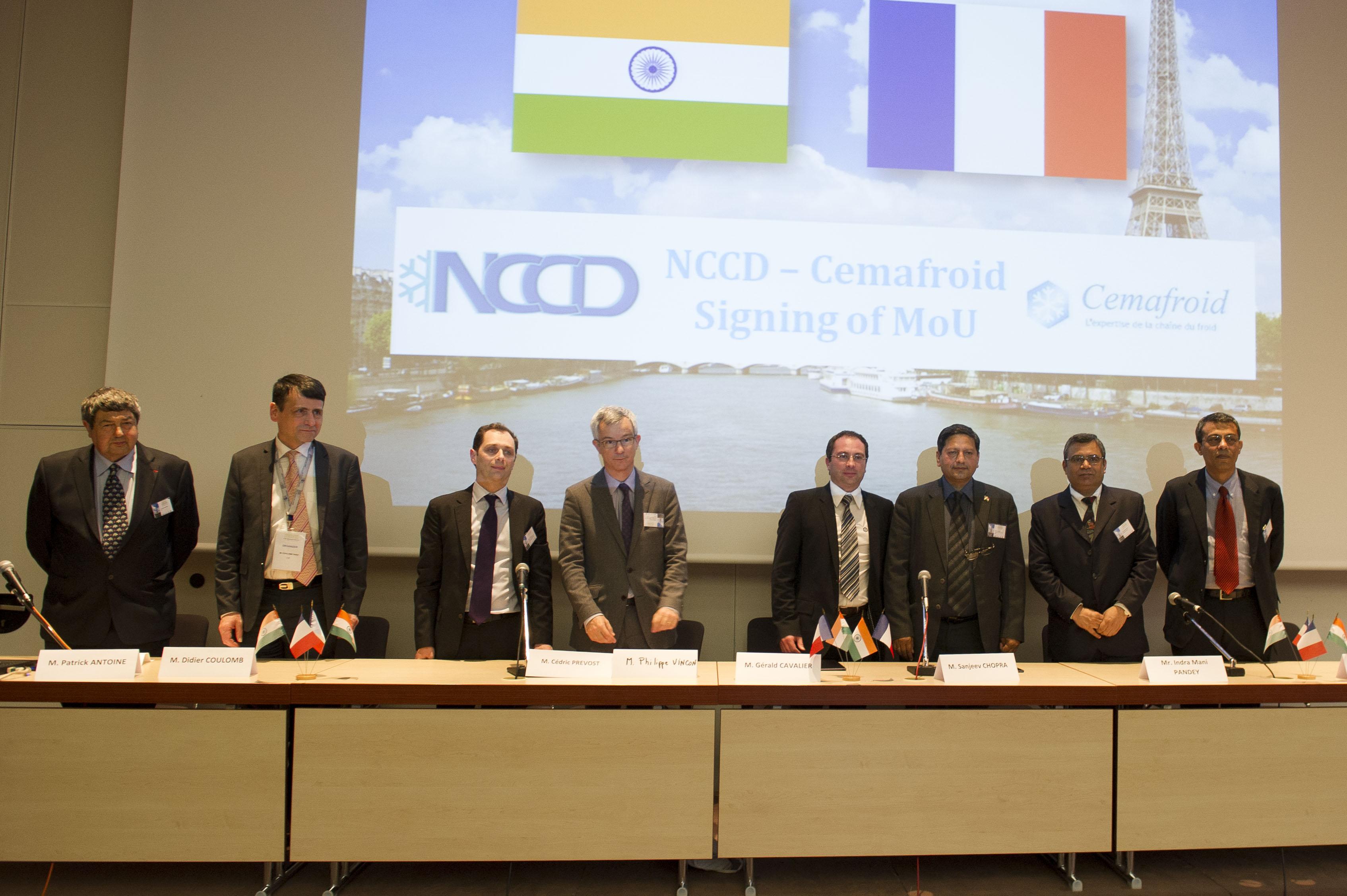 signature accord franco-indien chaine du froid @Cemafroid-Tecnea.jpg @Cemafroid-Tecnea