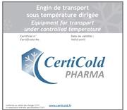 engin transport sous température dirigée produits de santé Certicold Pharma