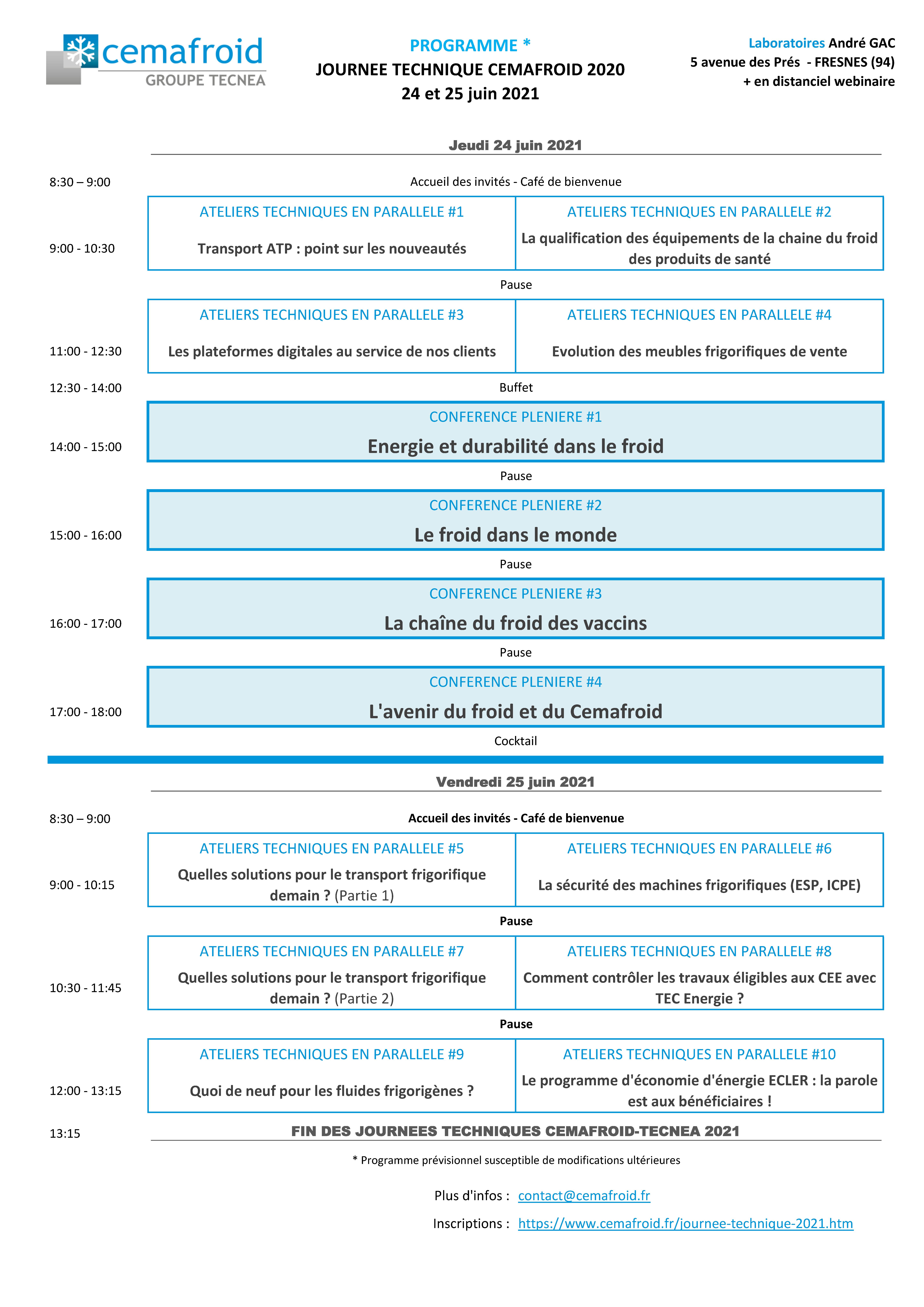 Programme JT 2021 Tecnea Cemafroid - site web