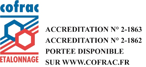 Logo COFRAC etalonnages Cemafroid